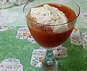 トマトのジュレと酒粕のムース